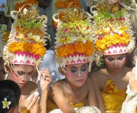 Dancers on the beach in Kuta